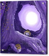 Hedgehogs In Purple Moonlight Acrylic Print
