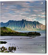 He'eia Fish Pond And Kualoa Acrylic Print
