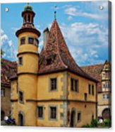 Hegereiterhaus Rothenburg Ob Der Tauber Acrylic Print