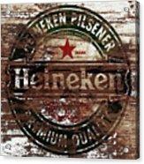 Heineken Beer Wood Sign 1a Acrylic Print