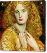 Helen Of Troy Acrylic Print by Dante Charles Gabriel Rossetti