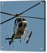 Helicopter On Final Approach  Acrylic Print