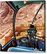 Helicopter On Monastery Of St Catherine Acrylic Print