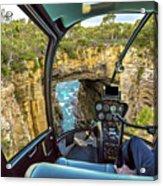 Helicopter On Tasman Arch Acrylic Print
