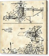 Helicopter Patent 1940 - Vintage Acrylic Print