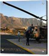 Helicopter Tours Of Cape Town And Table Mountain Acrylic Print