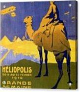 Heliopolis, Egypt - Grande Semaine D'aviation - Retro Travel Poster - Vintage Poster Acrylic Print