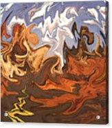 Heavy Weather News - Abstract Modern Art Acrylic Print