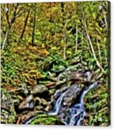 Hellbrook Cascades In Autumn Acrylic Print