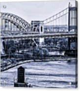 Hells Gate Bridge Triborough Bridge  Acrylic Print