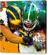 Helmet To Helmet Acrylic Print