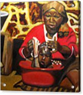 Help Lesotho Grandmother Acrylic Print