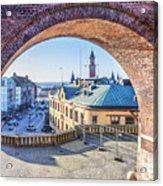 Helsingborg Through The Archway Acrylic Print
