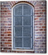 Helsingor Grilled Window Acrylic Print