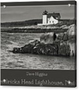Hendricks Head Lighthouse, Maine Acrylic Print