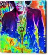Hendrix Acrylic Print by David Lee Thompson