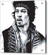 Hendrix No.02 Acrylic Print by Caio Caldas
