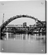 Henley Street Bridge Renovation 3 Acrylic Print