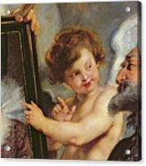 Henri Iv Receiving The Portrait Of Marie De Medici Acrylic Print by Rubens