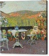 Henri Martin 1860 - 1943 Tea Time On The Terrace Marquayrol Acrylic Print