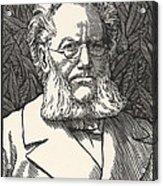 Henrik Ibsen, Norwegian Playwright Acrylic Print