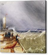 Henry Barlow Carter 1795-1867 Loss Of The Scarborough Lifeboat 24 May 1836 Acrylic Print