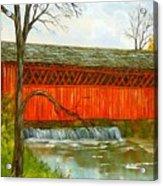 Henry Bridge Vt. Acrylic Print