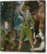 Henry Frederick 15941612 Prince Of Wales With Sir John Harington 15921614 In The Hunting Field Acrylic Print