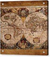 Henry Hondius Seventeenth Century World Map Acrylic Print