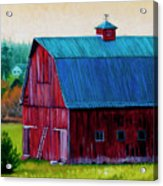 Henry Strong Barn Circa 1928 Acrylic Print by Stacey Neumiller