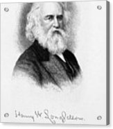 Henry Wadsworth Longfellow Acrylic Print by Granger
