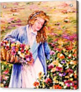 Her Irish Garden Acrylic Print