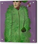 Her Living Fashion Line Made From Grass Attracted Only Jerks And Bees Acrylic Print