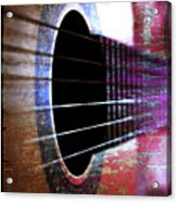 Her Old Guitar Acrylic Print
