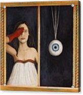 Her Wandering Eye Acrylic Print by Leah Saulnier The Painting Maniac
