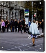 Her With The Cape Acrylic Print