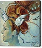 Hera Acrylic Print by Jacque Hudson