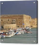 Heraklion Castle Crete Greece Acrylic Print