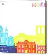 Heraklion Skyline Pop Acrylic Print