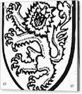 Heraldry: Lion Acrylic Print