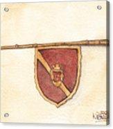Heraldry Trumpet Acrylic Print
