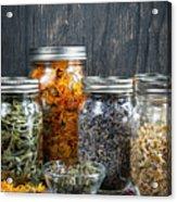 Herbs In Jars Acrylic Print