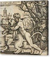 Hercules Killing The Nemean Lion Acrylic Print
