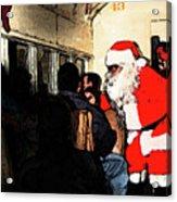 Here Come Santa Acrylic Print