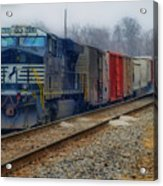 Here Comes The Train Acrylic Print