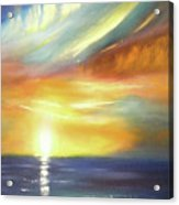 Here It Goes - Vertical Colorful Sunset Acrylic Print