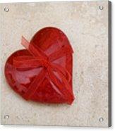 Here's My Heart Acrylic Print
