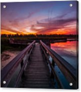 Heritage Boardwalk Twilight - Square Acrylic Print