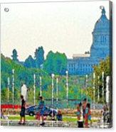 Heritage Park Fountain Acrylic Print