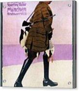 Hermann Scherrer Sporting Tailor - Munich, Germany - Vintage Advertising Poster Acrylic Print